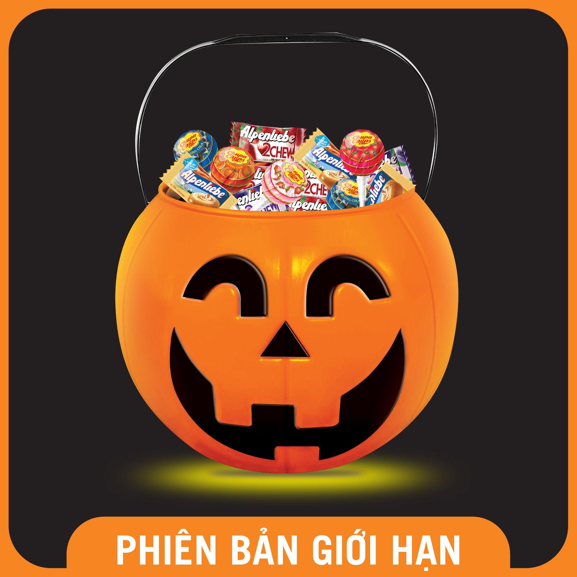 Kẹo Chupa Chups Alpenliebe Halloween Hộp Bí Ngô Nhật Bản