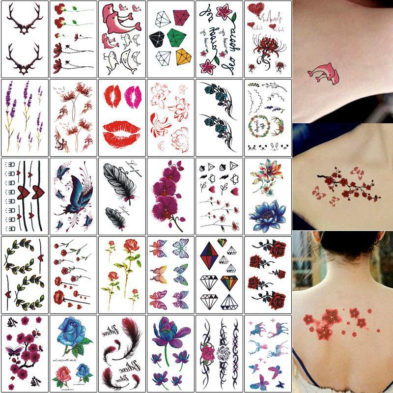 Hình ảnh Set 30 miếng dán hình xăm, hình xăm dán, xăm giả, tattoo dán cực độc- cực đẹp + Tặng thẻ tích điểm