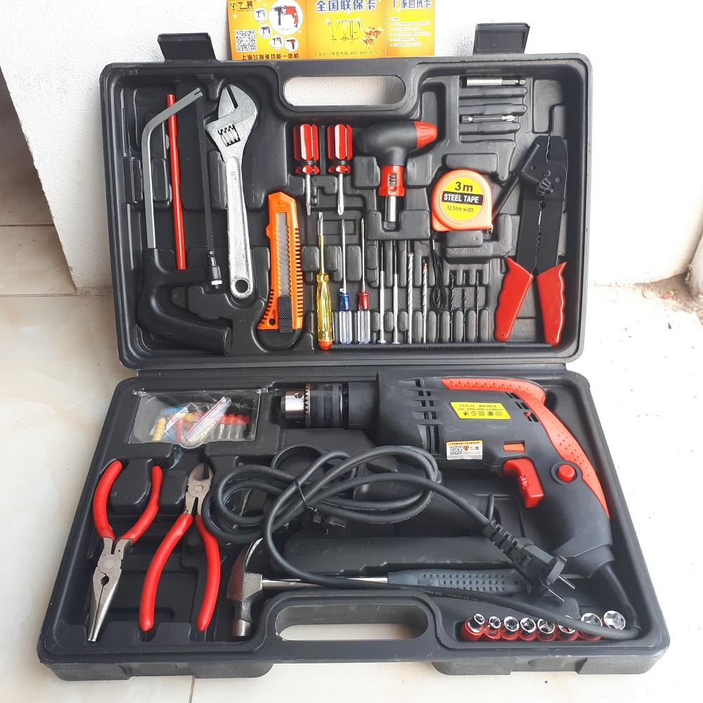 Bộ máy khoan đa năng 1860W - 103 chi tiết  tiện dụng (đỏ  đen)