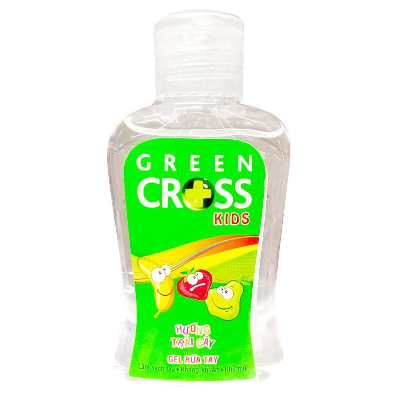 Gel rửa tay Green cross kids hương trái cây chai 100ml nhập khẩu