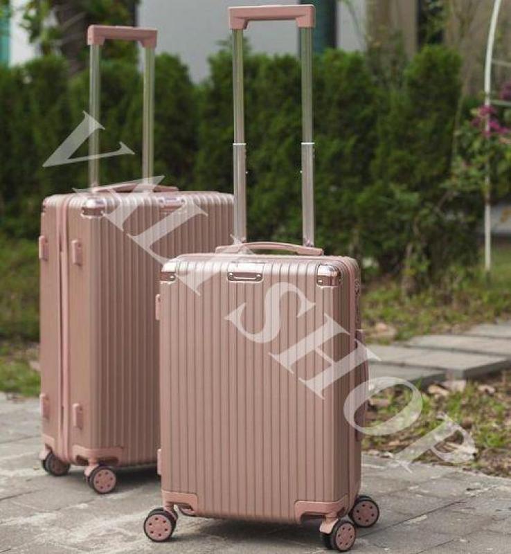 Vali Nhựa A301 Khóa Kéo Size 20 Màu Rosegold