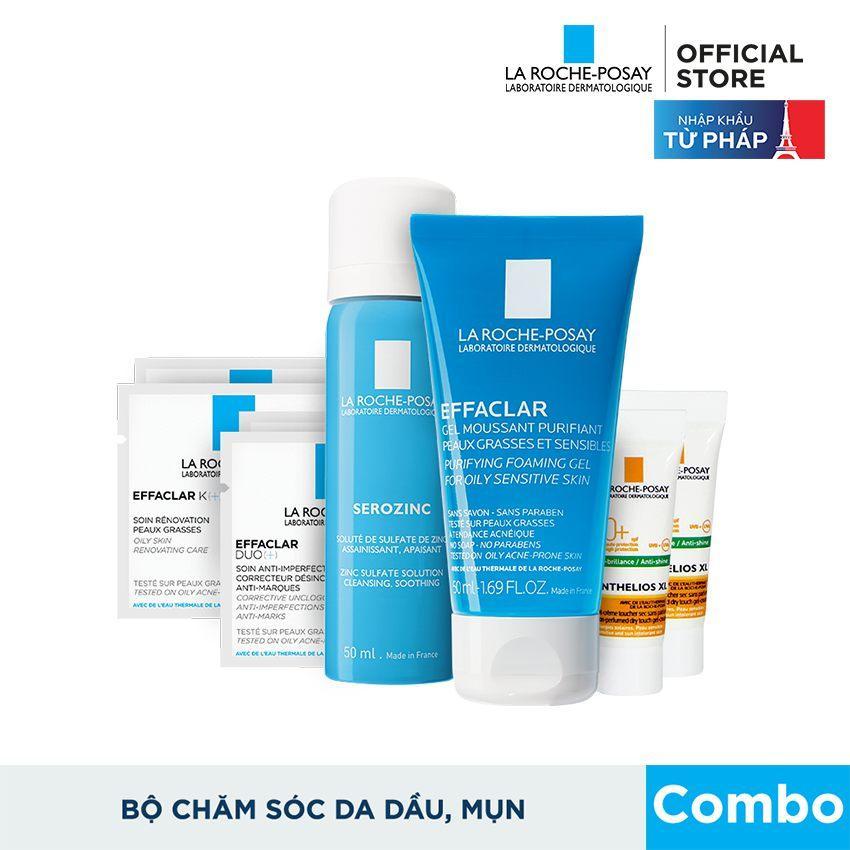 Hình ảnh Bộ sản phẩm làm sạch và bảo vệ da dầu mụn La Roche Posay