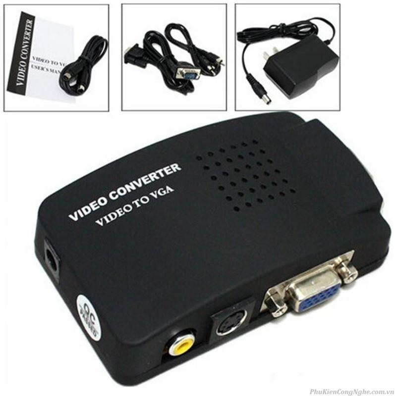 Bảng giá Bộ chuyển tín hiệu AV, Svideo sang VGA (đen) Phong Vũ