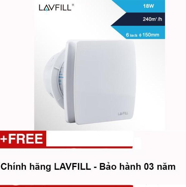 Quạt thông gió thiết kế phẳng để ốp tường với kích thước bề mặt 193 x 193mm LAVFILL LFWW-13Q