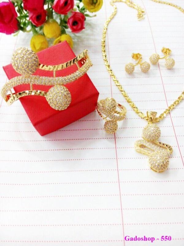 Bộ Trang Sức Nữ Xi Vàng 18k Gadoshop_VB4180605