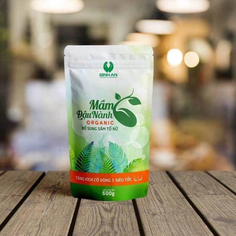 Mầm đậu nành Organic Bình An tăng cường sinh lý nữ 500G nhập khẩu