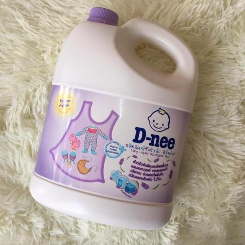 Nước giặt xả quần áo trẻ em Dnee 3000ml Thái Lan (Màu tím) - (Hàng công ty chính hãng)