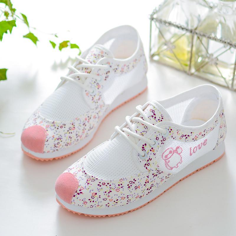 Giày Bé Gái Vải Bố Voan Lưới