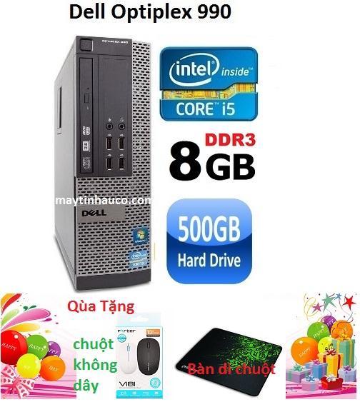 Hình ảnh Thùng CPU Dell optiplex 990 ( Core i5 2400 / 8G / 500G ) Tặng chuột không dây chính hãng , bàn di chuột , Bảo hành 24 tháng - Hàng nhập khẩu (Xám)