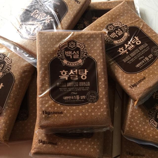 Đường Đen Hàn Quốc Dark Brown Sugar Gói 1kg (Làm Sữa Tươi Trân Châu Đường Đen )