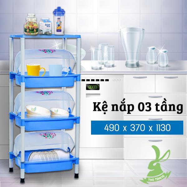 Kệ Úp Chén Dĩa Nhựa Có Nắp Đậy 3 Tầng Hiệp Thành Việt Nam By Thỏ Trắng Co..