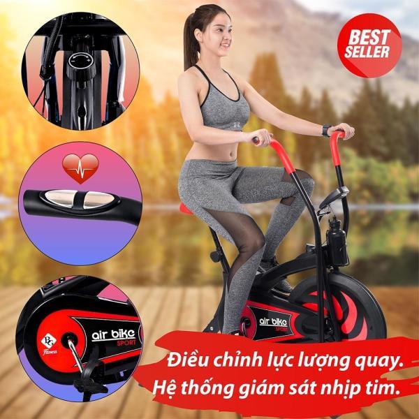BG - Xe đạp tập thể dục Air bike thiết kế hoàn toàn mới (Red) 2020