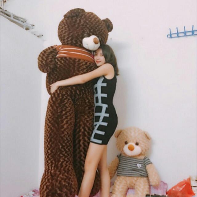 Hình ảnh Gấu bông Teddy khổ vải 2m size lớn nhất - Hàng cao cấp cực đẹp