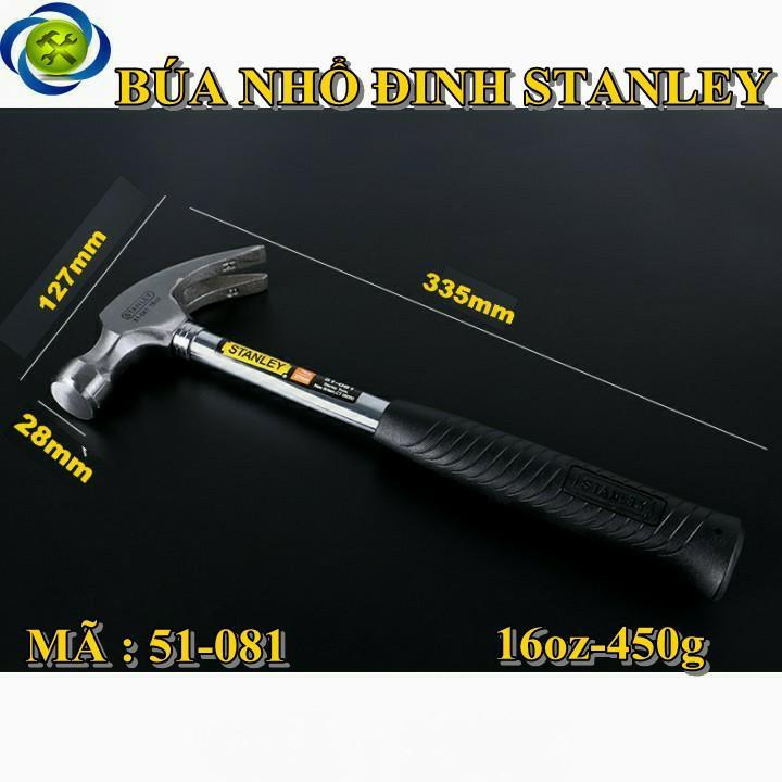 Búa nhổ đinh cán sắt Stanley 51-081 16oz-450g