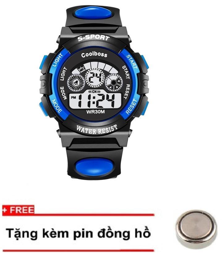 Đồng hồ trẻ em GOLDTIME Coolboss 0119 xanh + Tặng kèm 1 pin ĐH bán chạy