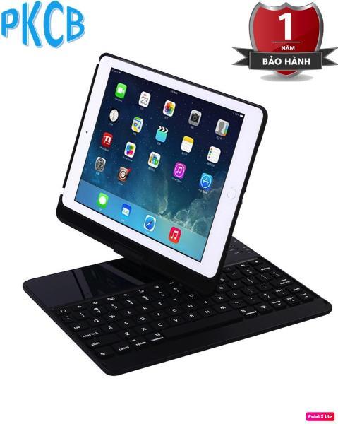 Giá Bàn phím Bluetooth kiêm ốp lưng cho iPad Air xoay 360 độ (Đen) hỗ trợ đèn bàn phím - PKCB