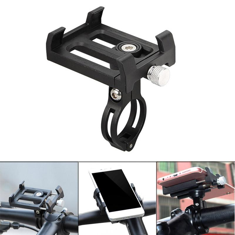 PAlight Bicycle Handlebar Bracket Holder Mount Aluminum Alloy 360 Degree Rotatable For Mobile Phone