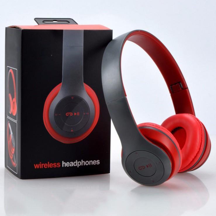 Tai nghe chụp tai cao cấp có khe thẻ nhớ Bluetooth P47 ( đủ màu)
