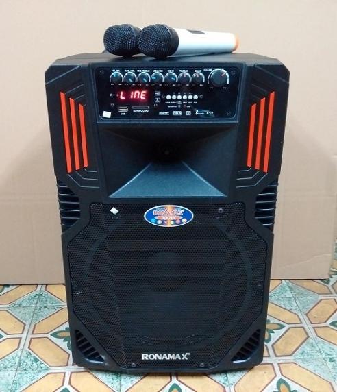 Loa vali kẹo kéo karaoke bluetooth temeisheng RONAMAX F12 công suất lớn