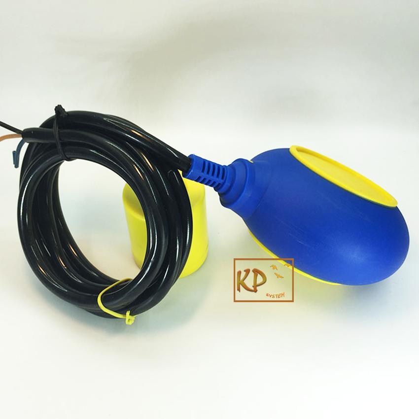 Công tắc phao điện chống tràn, chống cạn bể nước tròn cáp 2m kawa KW-M15