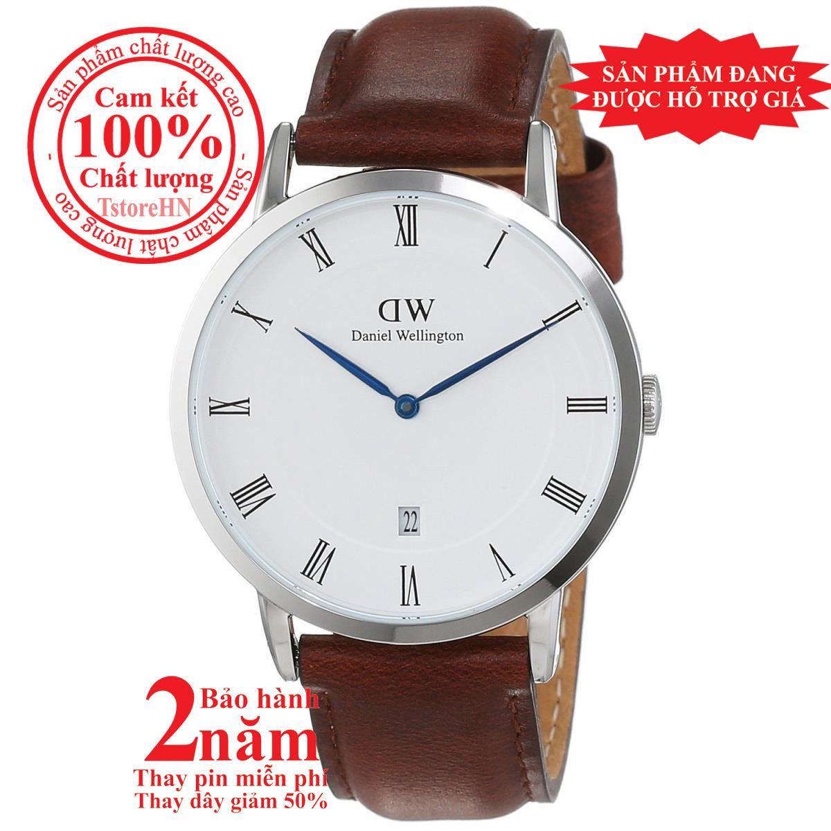 Đồng hồ nữ Daniel Wellington St Mawes 34mm - Màu Bạc (Silver), mặt trắng (White), dây da nâu, DW00100095 bán chạy