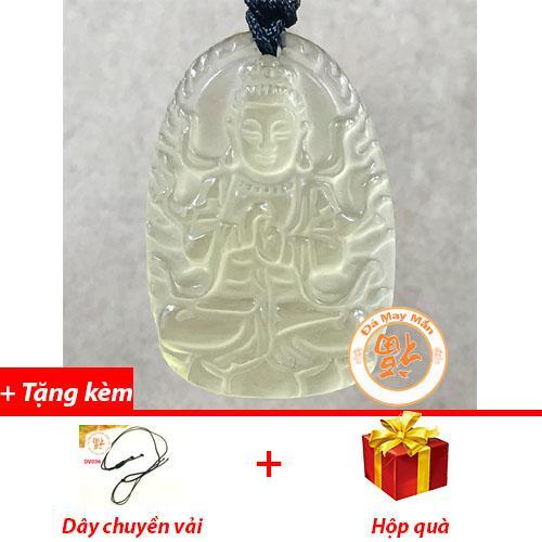 Mặt Dây Chuyền Phật Bản Mệnh Như Lai Đại Nhật Thạch Anh Vàng