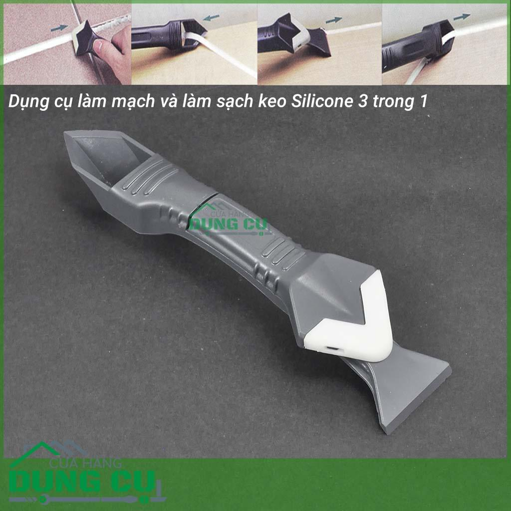 Dụng cụ miết mạch và làm sạch keo silicone đa năng 3 trong 1