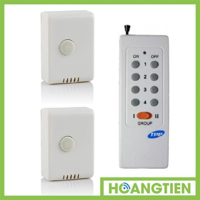 Bộ 2 công tắc điều khiển từ xa sóng RF công suất lớn TPE RC1A + Remote 16 nút RM01