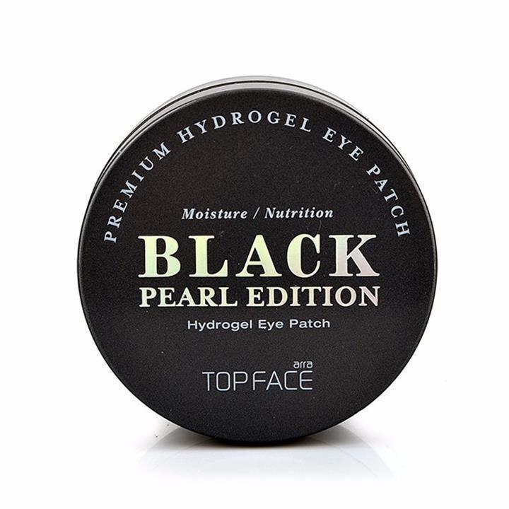 Mặt nạ dưỡng ẩm, giảm thâm và giảm bọng mắt chiết xuất ngọc trai Arra TOPFACE Black pearl edition Hydrogel Eye Patch ( 60 miếng) nhập khẩu