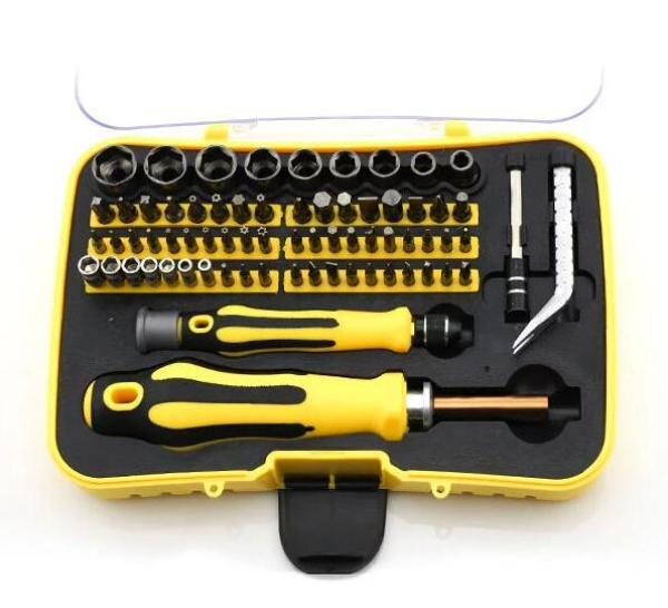 Bộ đồ nghề sửa xe máy, dụng cụ sửa chữa điện - Bộ dụng cụ đa năng 70 chi tiết có tua vít + đầu khẩu . Mua Bộ dụng cụ vặn ốc vít tiện lợi giá cực sốc. 1015 Bảo hành 1 đổi 1 Toàn Quốc