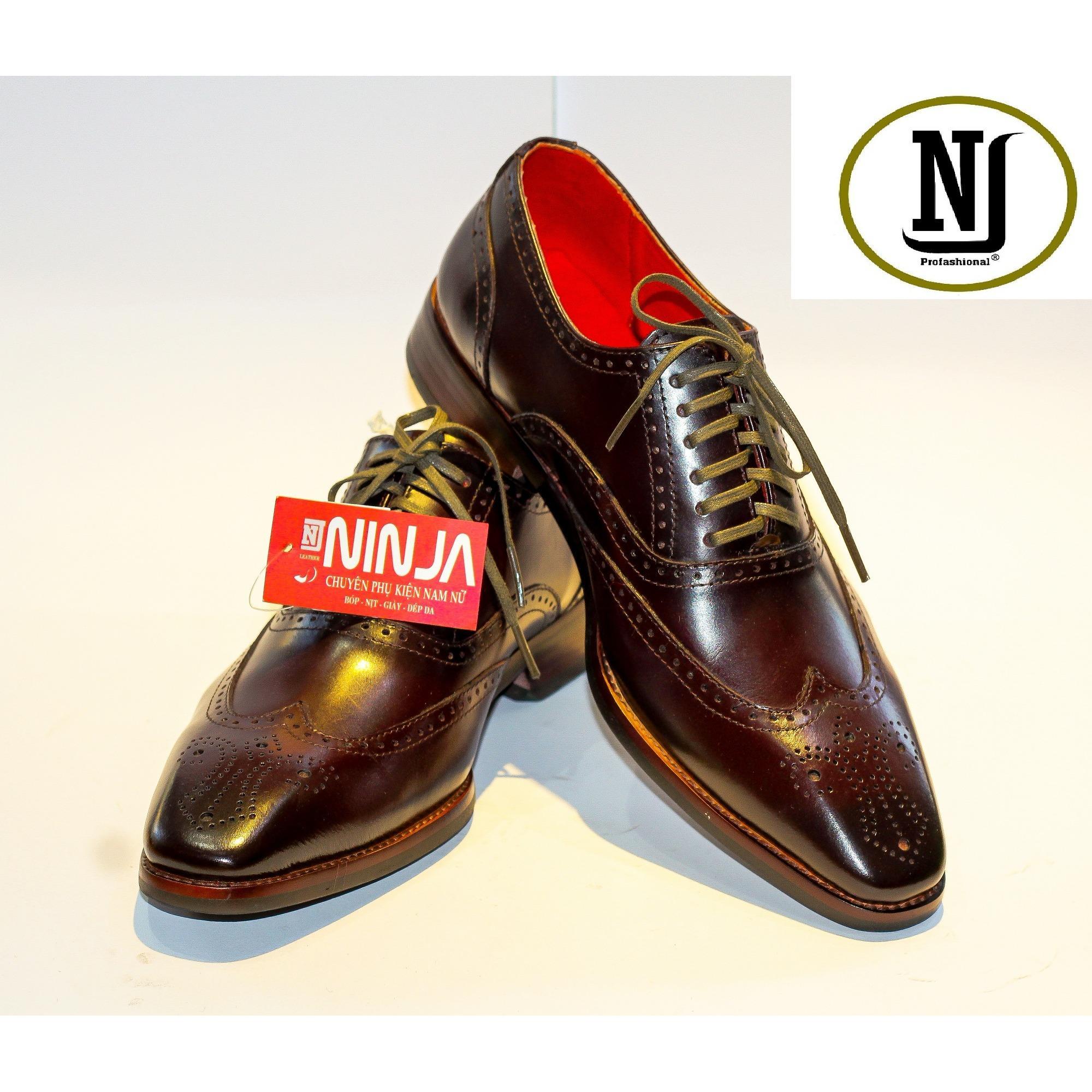 Giày tây nam da bò cao cấp da nhập ý PTN siêu mềm 3 màu đen ,màu bò ,nâu