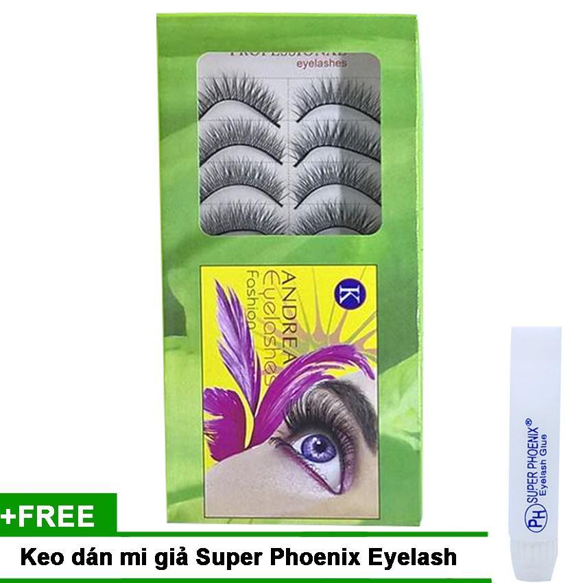 Mi giả tự nhiên Andrea Eyelashes Fashion (10 cặp) + Keo dán mi giả Super Phoenix Eyelash 5ml tốt nhất