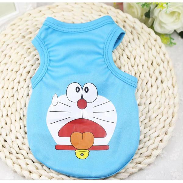 áo chó mèo cao cấp kiểu áo thun hình doremon size m ( dành cho chó mèo 1 - 3  kg )