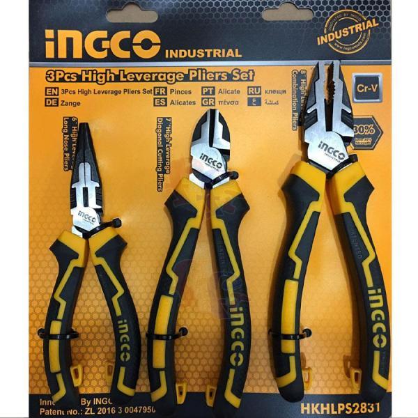 Bộ 3 kìm răng, cắt và nhọn cao cấp INGCO HKHLPS2831