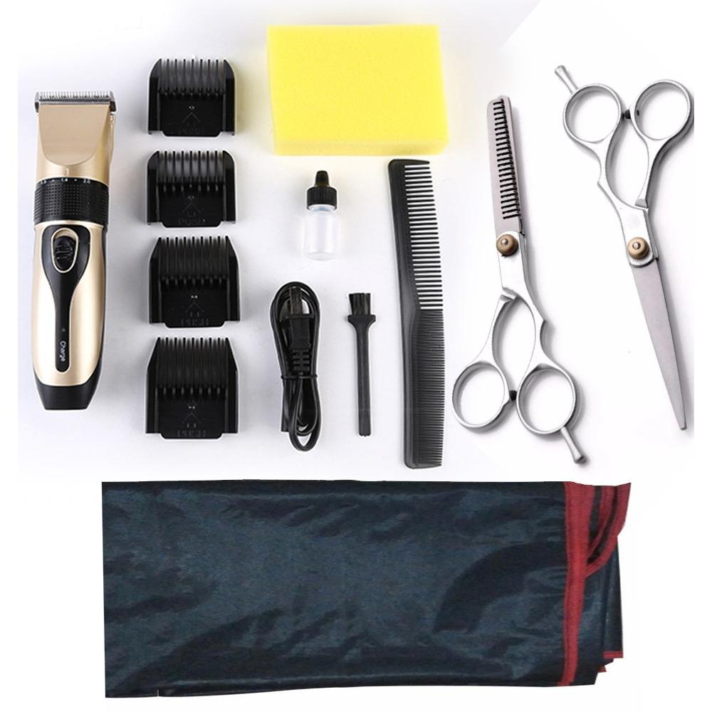 Hình ảnh Bộ Tông Đơ Cắt Tóc BoJia Tặng kèm 2 kéo cắt kéo tỉa(và áo choàng cao cấp)