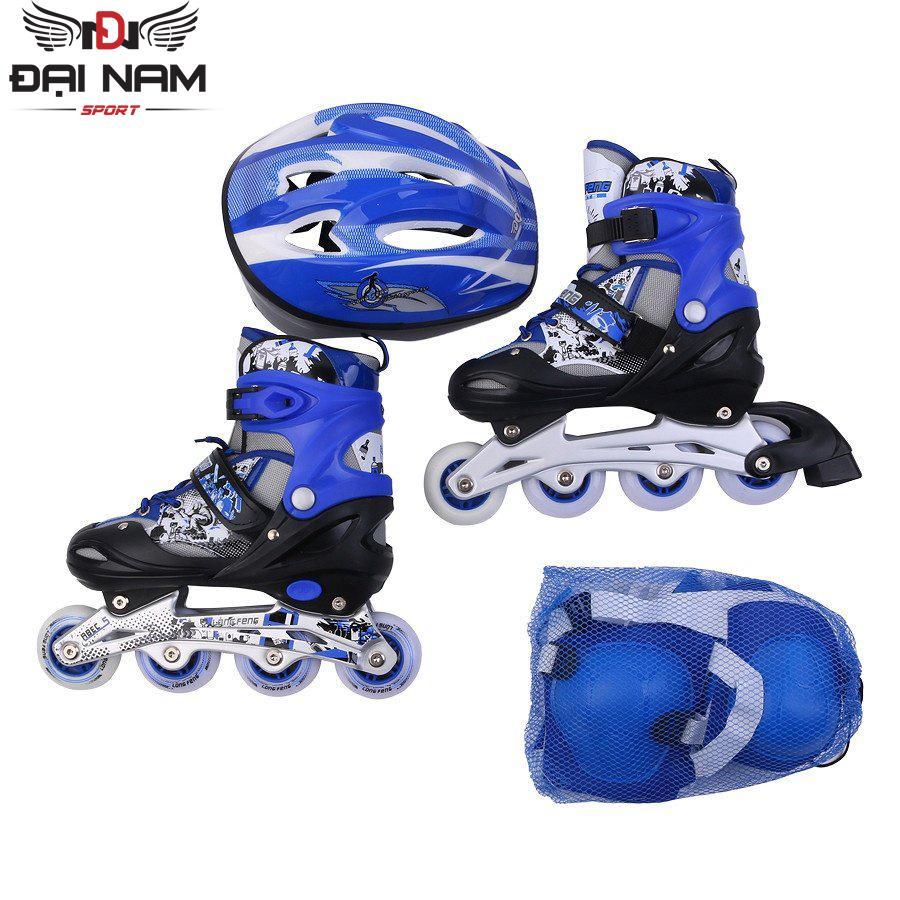 Giày trượt patin Longfeng 906 size S (Dành cho trẻ dưới 6 tuổi 31-35) + Tặng bộ bảo hộ