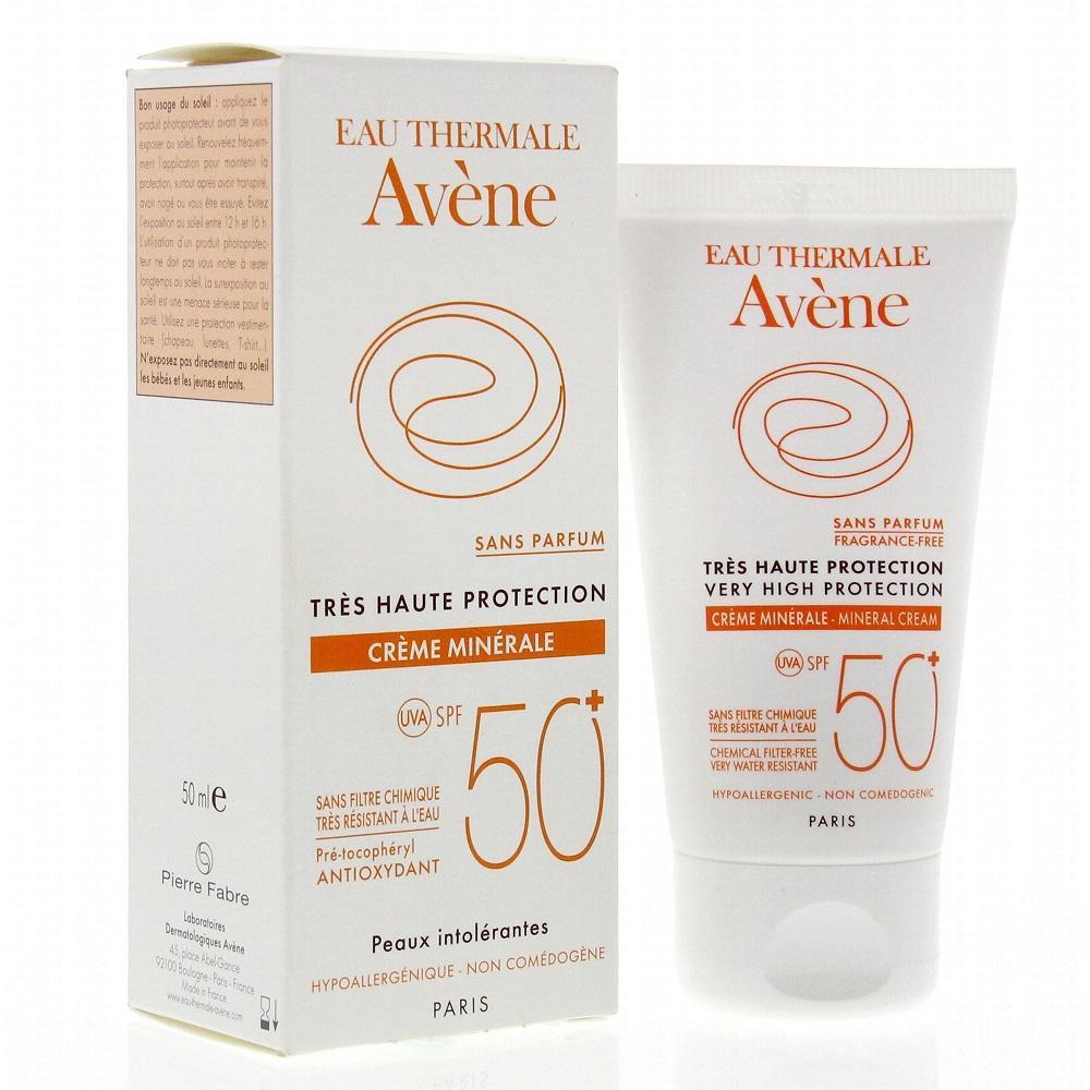 Kem chống nắng Avene Creme Minerale Solaire Spf 50+++ Pháp 50ml tốt nhất