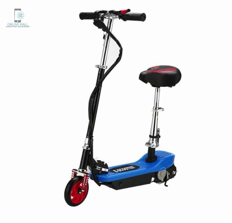 Giá bán Xe scooter điện tốc độ tối đa 15km/h, tải trọng 75kg (Đen) + Tặng kèm bảo vệ tay chân - Online Mall