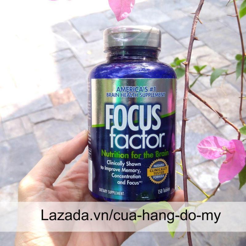 Thực phẩm Viên Uống Tăng Cường Chức Năng Não, Giảm Stress Focus Factor Mỹ - Thuốc bổ não 150V tốt nhất