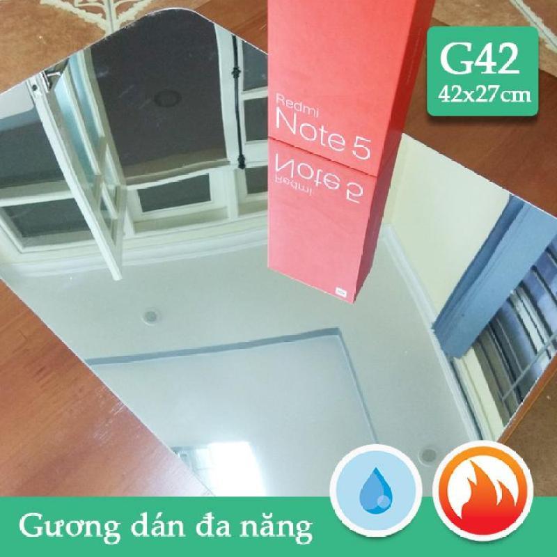 Gương dán nhà tắm,tủ gỗ CN dầy 1mm soi nét căng combo2  G42 42x27cm x2 tấm