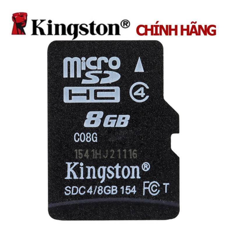 Thẻ nhớ Kingston Micro SDHC Class4 8GB (Đen) + Tặng 1 đầu đọc thẻ nhớ micro (Mẫu ngẫu nhiên)