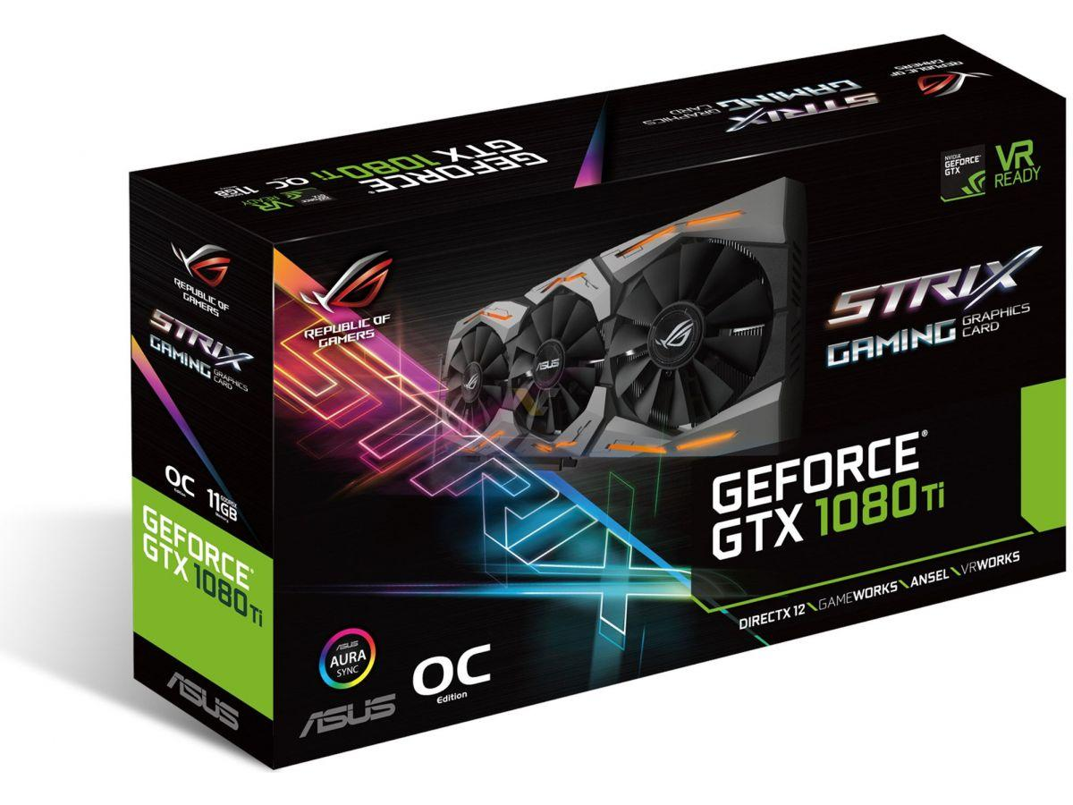 Vga Card ASUS ROG STRIX GTX 1080TI - O11G - Gaming