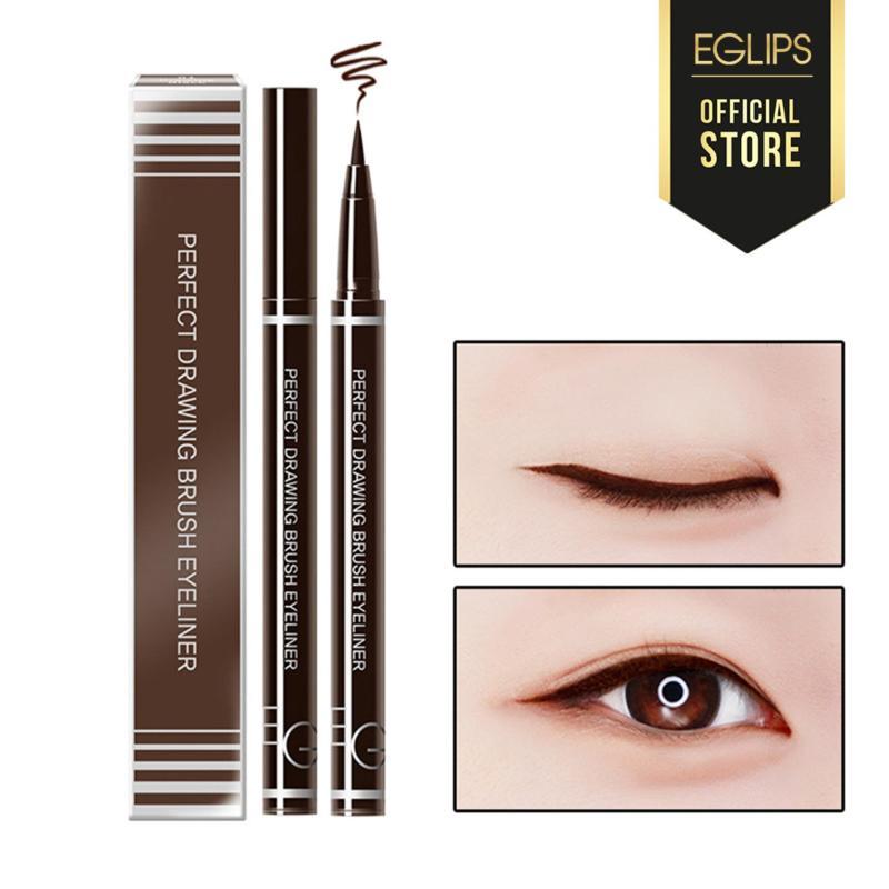 Kẻ mắt Eglips Perfect Drawing Brush Eyeliner - 02 Drawing Brown (Màu nâu) cao cấp