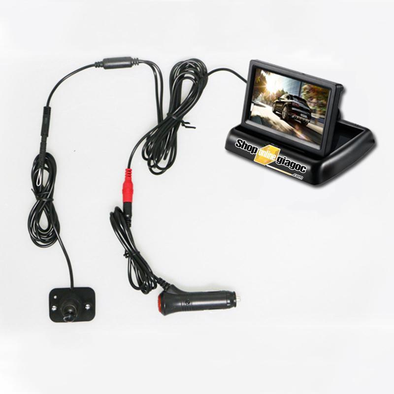 Combo Camera Chống Nước Gắn Gương Hậu Cặp Lề Xóa Điểm Mù (4.3in hông phải )