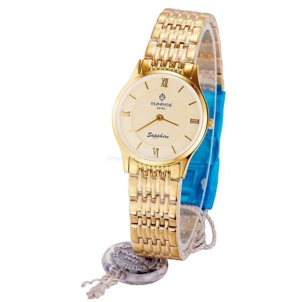 Đồng hồ nữ siêu mỏng Sunrise DL736SWB Fullbox hãng kính Sapphire chống xước