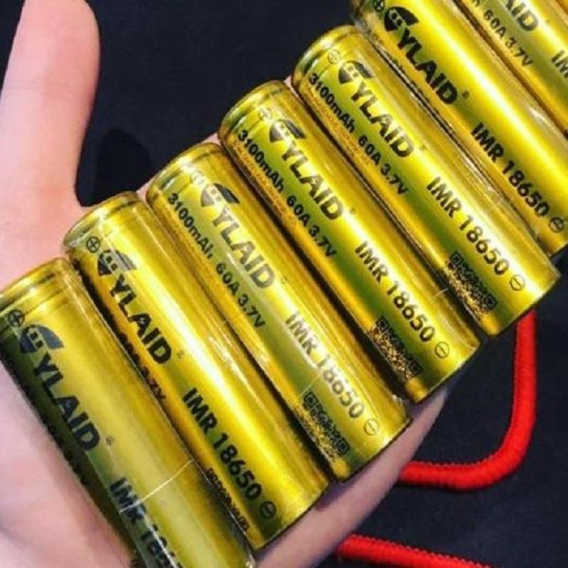 Pin Cylaid Vàng 3100mah/60A Chuyên Mech Mod - Tặng Một Cặp Coil Alien 2 lõi