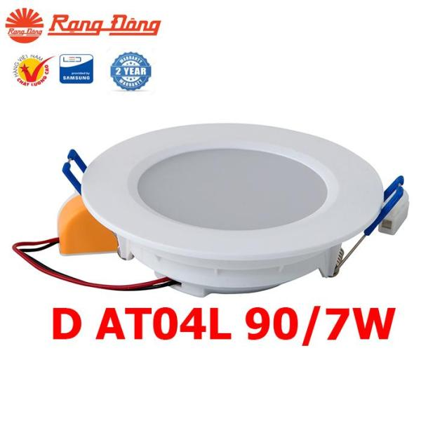 06 Đèn led âm trần 7W Rạng Đông , Model  LED downlight D AT04L 90/7w