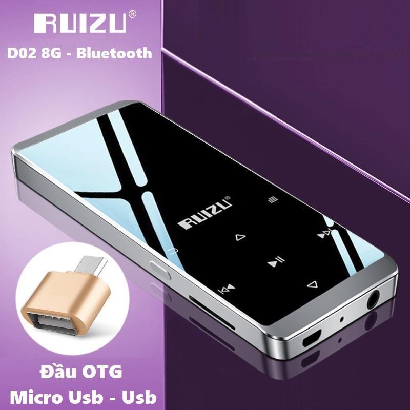 Máy nghe nhạc thể thao HiFi Ruizu D02 - Music Player Ruizu D02 - Tặng kèm đầu OTG kết nối với điện thoại