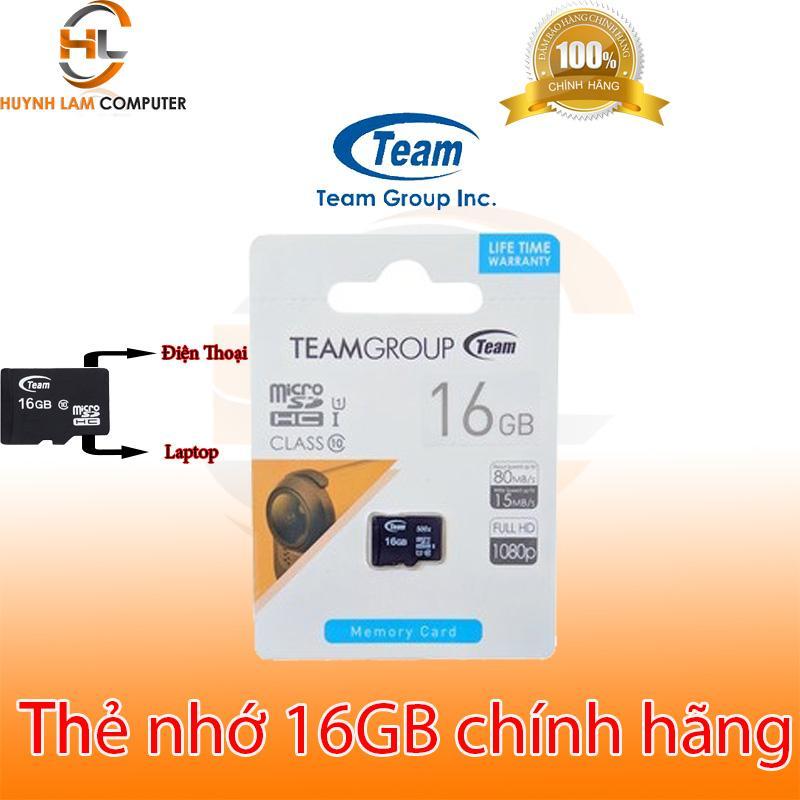 Thẻ nhớ 16gb - Thẻ nhớ 16gb Team MicroSD Class10 dung lượng thực tốc độ nhanh