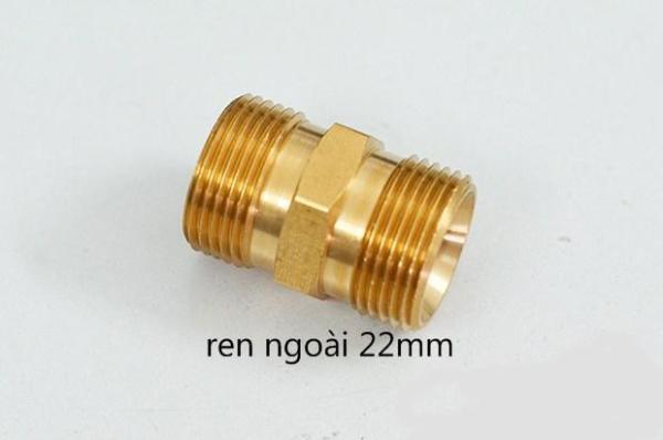Bảng giá Đầu nối 2 dây máy rửa xe áp lực cao bằng hợp kim đồng 22mm